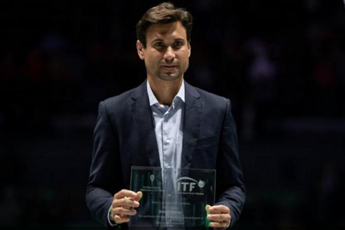 David Ferrer erhält den Davis Cup Award of Excellence in Madrid