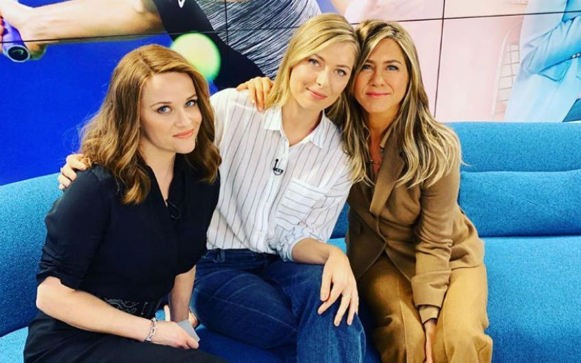 "Maria Sharapova in der ""Morning Show"" mit Jennifer Aniston & Reese Witherspoon"