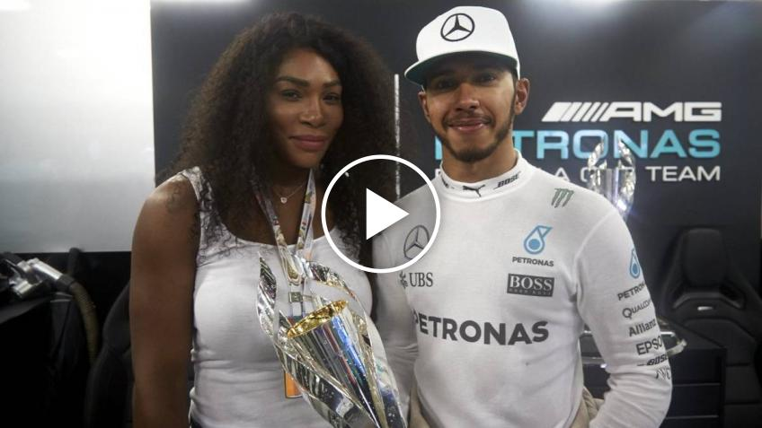 Serena Williams lacht über Lewis Hamiltons Tennisvideo
